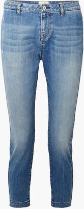 Nili Lotan Tel Aviv Cropped Mid-rise Slim-leg Jeans