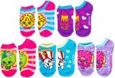 Asstd National Brand Girls 5 Pair No Show Socks