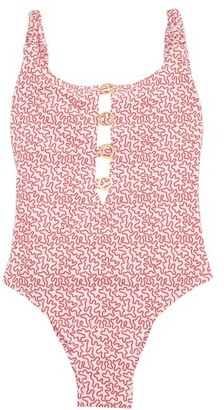 Fisch Choisy Abstract-print Swimsuit - Red Print