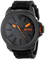 HUGO BOSS BOSS Orange Men's 1513004 New York Black Stainless Steel Watch