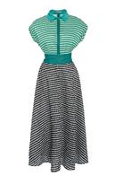 Lela Rose Full Skirt Shirt Dress