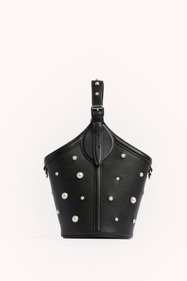 Rebecca Minkoff Pippa Top Handle with Pearl Studs
