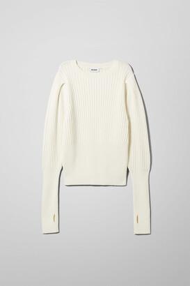 Weekday Anabel Sweater - White