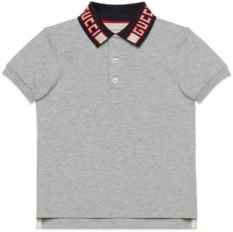 Gucci Children's cotton polo with stripe