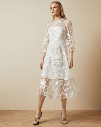 Ted Baker Tiered Lace Midi Dress