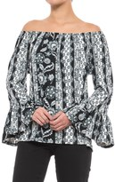 Scully Peasant Blouse - Long Sleeve (For Women)