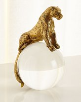Global Views Brass Jaguar on Crystal Ball