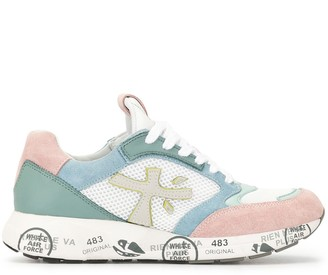 Premiata Panelled Lace-Up Sneakers
