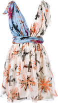 Fausto Puglisi draped cross print dress - women - Silk - 44