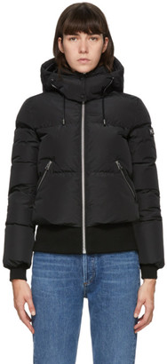 Mackage Black Down Aubrie Bomber Jacket