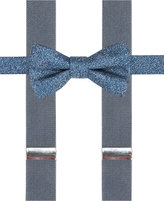 Alfani Blue Bow Tie and Suspender Set, Created for Macy's