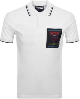 Versace Short Sleeved Polo White