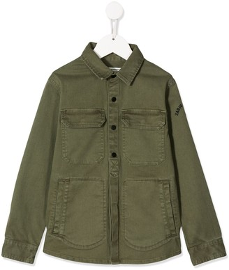 Zadig & Voltaire Kids Kayak relaxed-fit shirt jacket