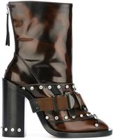No.21 studded buckle boots