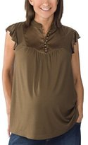 Liz Lange® for Target® Quilted Bib-Front Top - Brown