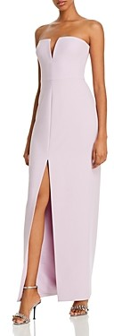 BCBGMAXAZRIA Strapless Crepe Gown - 100% Exclusive