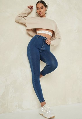 Missguided Recycled Blue Skinny Jeans
