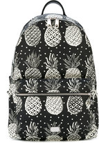Dolce & Gabbana Volcano pineapple print backpack - men - Calf Leather/Nylon/Polyamide/Polypropylene - One Size
