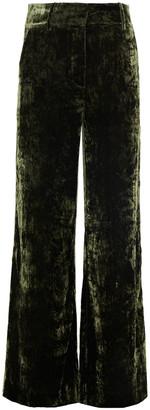 Frame Panne Met Crushed-velvet Wide-leg Pants
