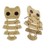 Capelli Of N.Y. Capelli New York Gold-Tone Owl Drop Earrings