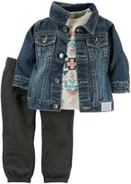Carter's Baby Boy Denim Jacket, Tee & Pants Set