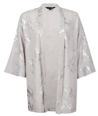 Dorothy Perkins Womens Silver Foil Cover Up, Silver
