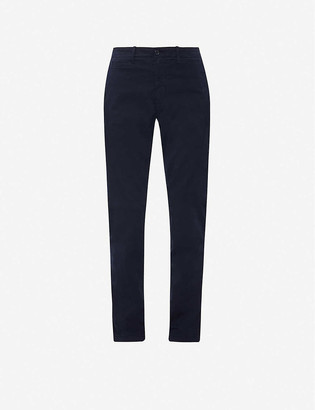 Benetton Straight mid-rise cotton-twill trousers