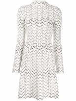 Alaia Azzedine Zip Front A-Line Mini Dress