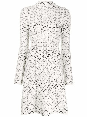 Azzedine Alaïa Zip Front A-Line Mini Dress