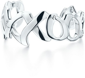 Tiffany & Co. Paloma's Graffiti love & kisses cuff in sterling silver, medium