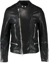 AllSaints REIMER BIKER Leather jacket black