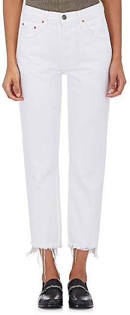 GRLFRND Women's Helena Straight Crop Jeans - White