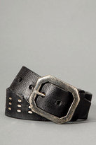 Women's Leather Belt With Studs