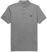 Ralph Lauren Purple Label Cotton-piqué Polo Shirt - Gray