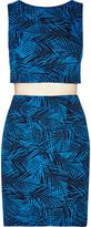 Bailey 44 Paradise Cove leaf-print jersey mini dress