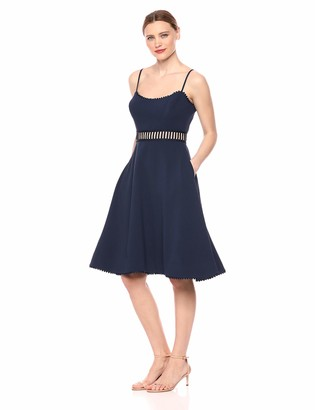 Dress the Population Women's Harlow Sleeveless Fit & Flare Short Party Dress
