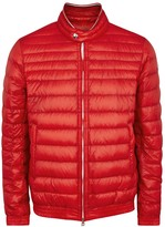 Moncler Garin Red Quilted Shell Jacket