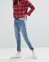 Boohoo Colourblock Mom Jeans