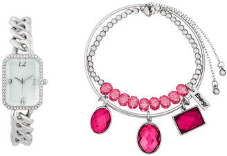 ALEXIS BENDEL Alexis Bendel Ruby Womens Silver Tone 3-pc. Watch Boxed Set-6959s-42-E28
