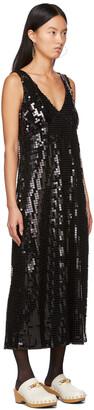 Anna Sui Black Sequin Midnight Dress