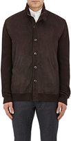 Ermenegildo Zegna Men's Cashmere-Silk Sweater Jacket-BROWN