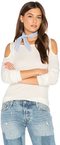 Splendid Cold Shoulder Loose Knit Top in Ivory