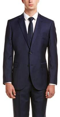 Zanetti Amalfi Modern Fit Wool Suit With Flat Pant.