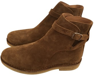 Ami \N Camel Suede Ankle boots