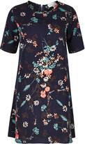 Apricot Navy Multi-Coloured Daisy Print Swing Dress