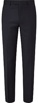 John Lewis Semi Plain Super 100s Wool Travel Suit Trousers, Navy