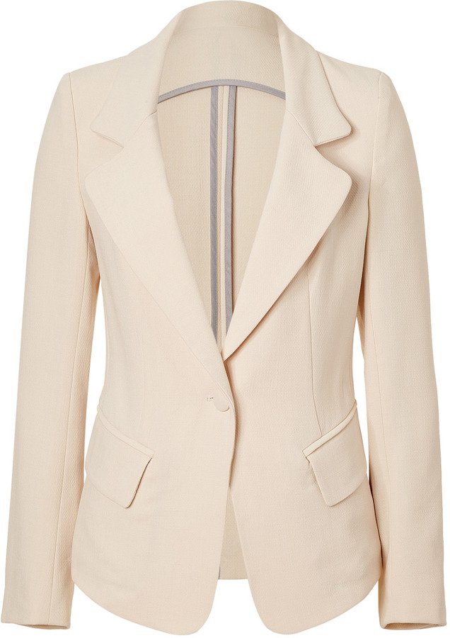 L'Agence LAgence Butter High-Low Blazer