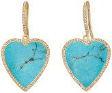 Jennifer Meyer Women's Heart Drop Earrings