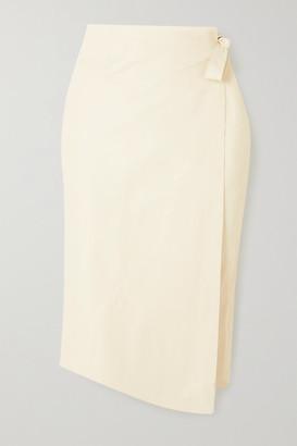 Envelope1976 - Net Sustain Sarajevo Leather Wrap Skirt - Cream