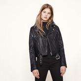 Maje Biker-style leather jacket